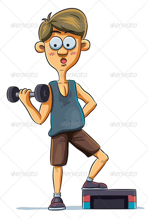 Gym clipart gym boy. In illustration