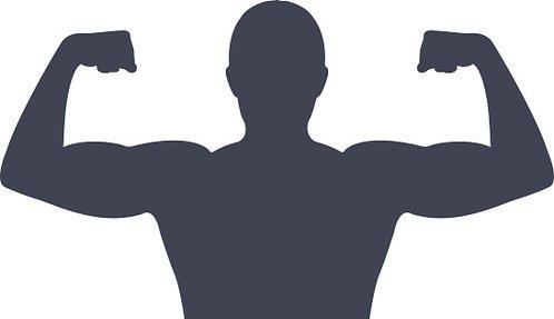 Gym clipart gym guy. Man silhouette premium clipartlogo