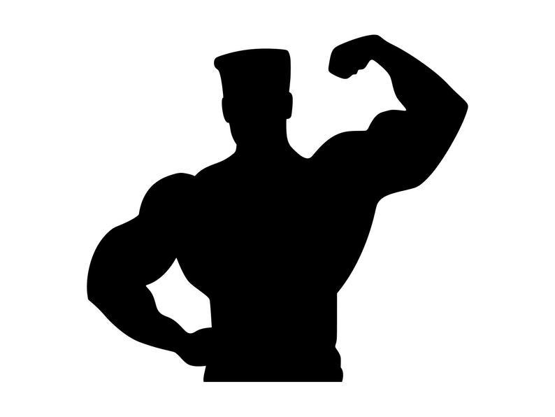 Gym clipart gym guy. Muscle man svg bodybuilder