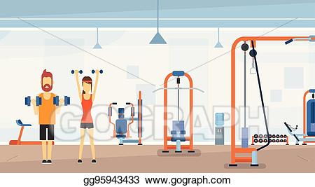 Eps vector sport fitness. Gym clipart gym interior