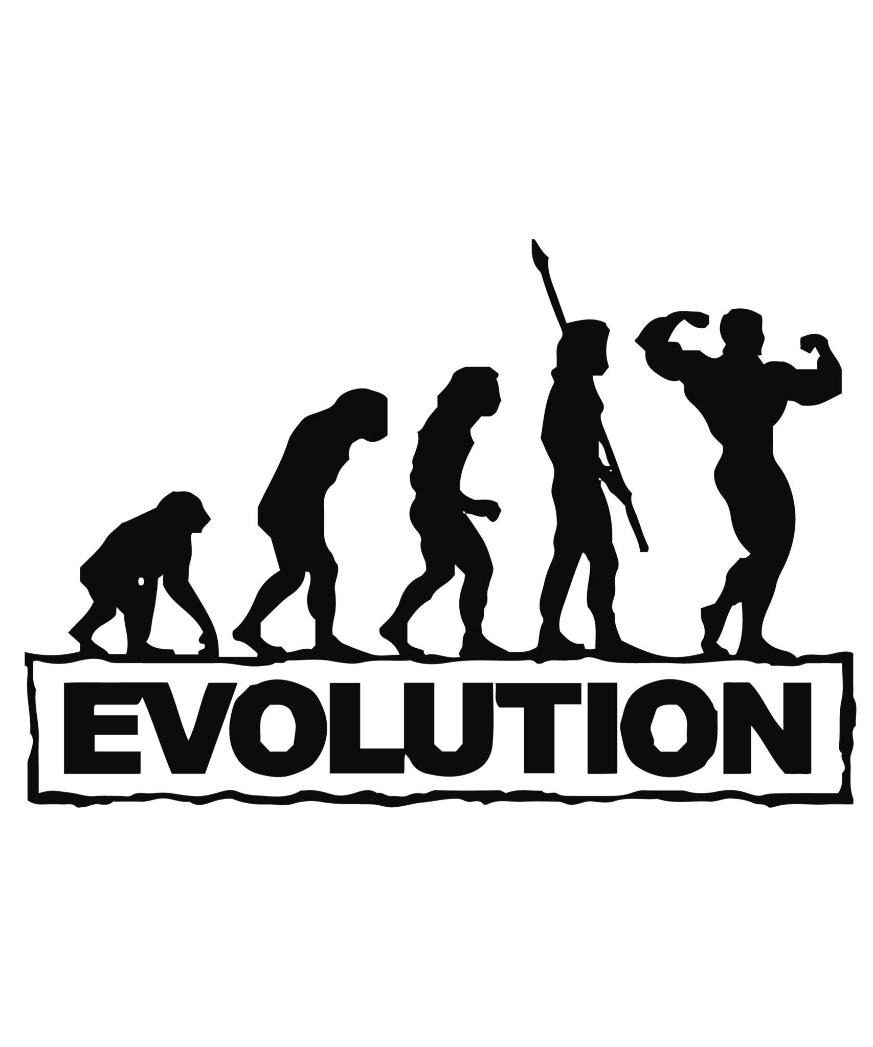 Evolution of man decal. Gym clipart gym interior
