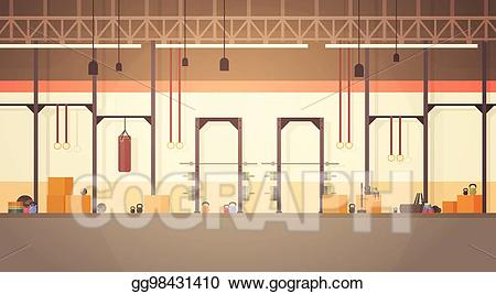Gym clipart gym interior. Vector illustration sport workout
