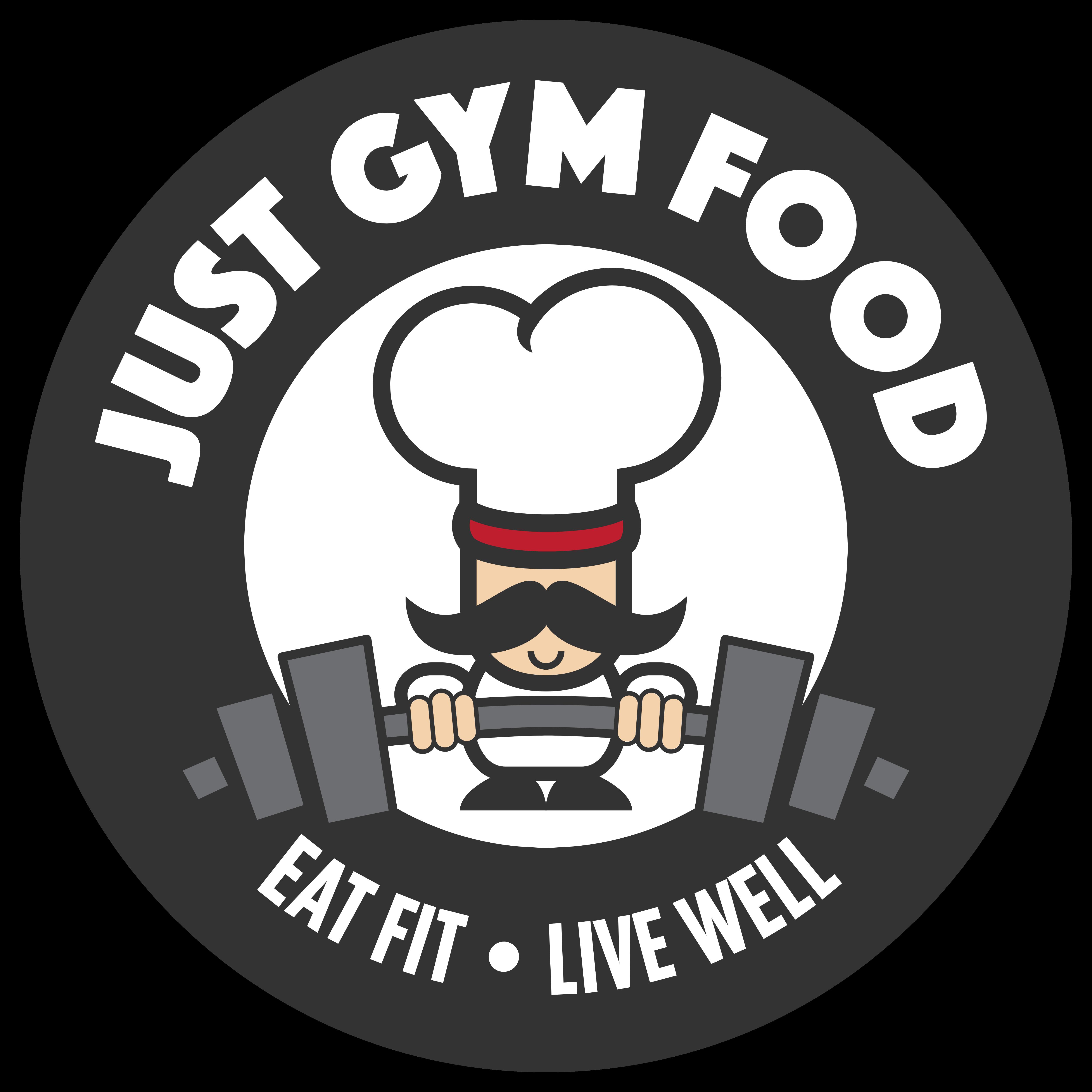 Gym clipart gym logo. Just food logos download