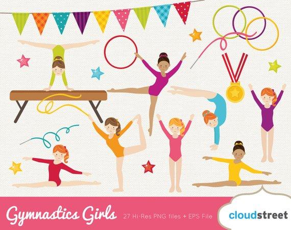 Gymnast clipart olympics gymnastics. Buy get free girl