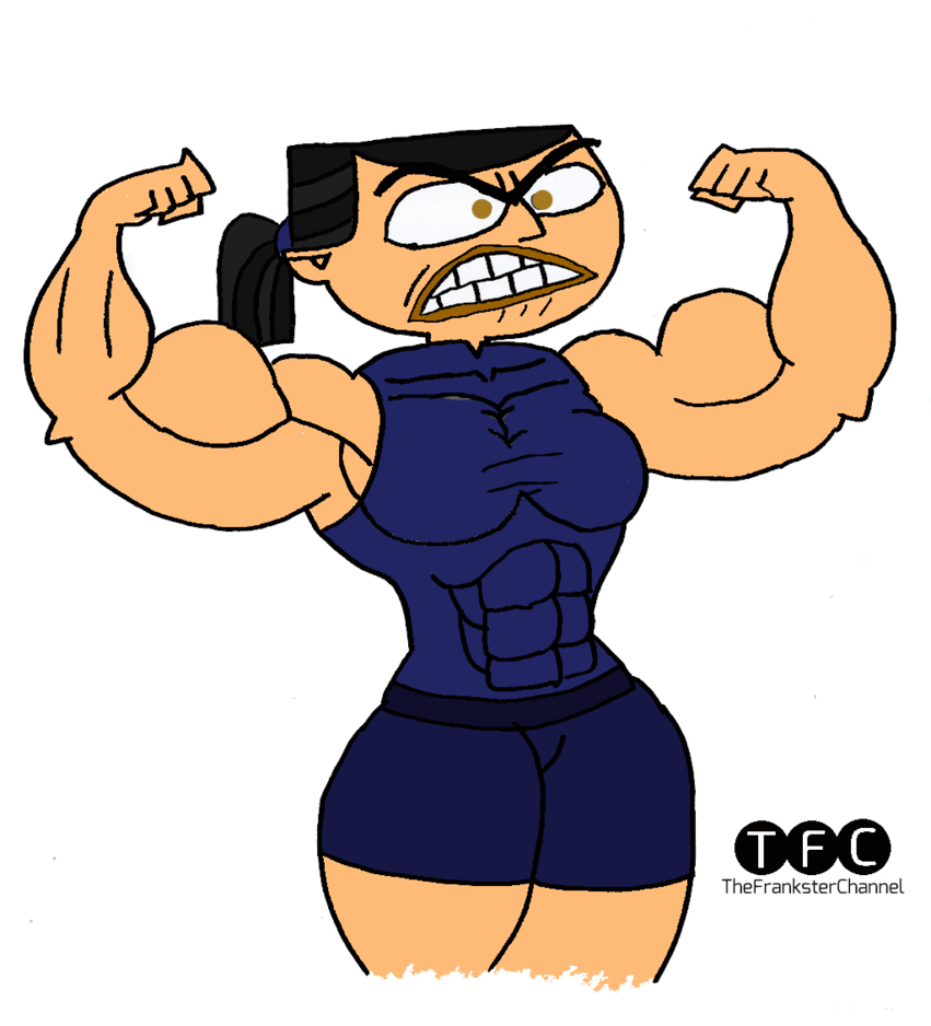 Eva flexing biceps by. Gym clipart muscle arm