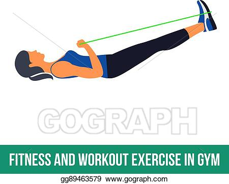 Gym clipart resistance exercise. Clip art vector aerobic
