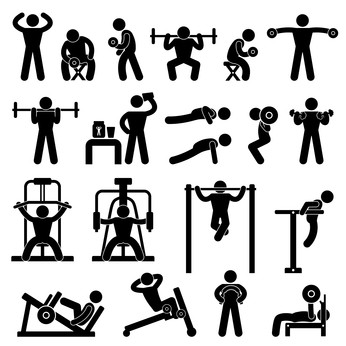 Benefits of proper form. Gym clipart resistance exercise