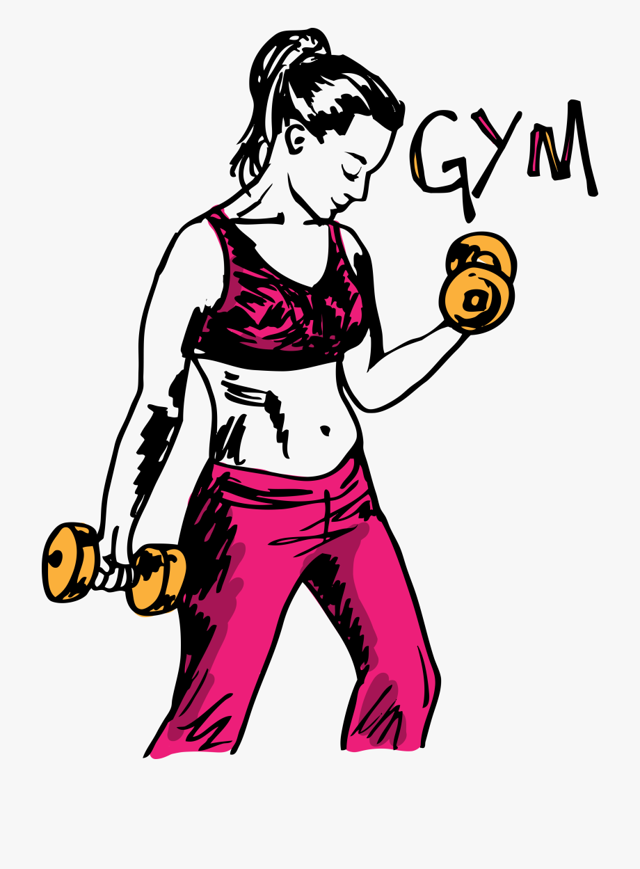 week fat loss. Gym clipart sketch