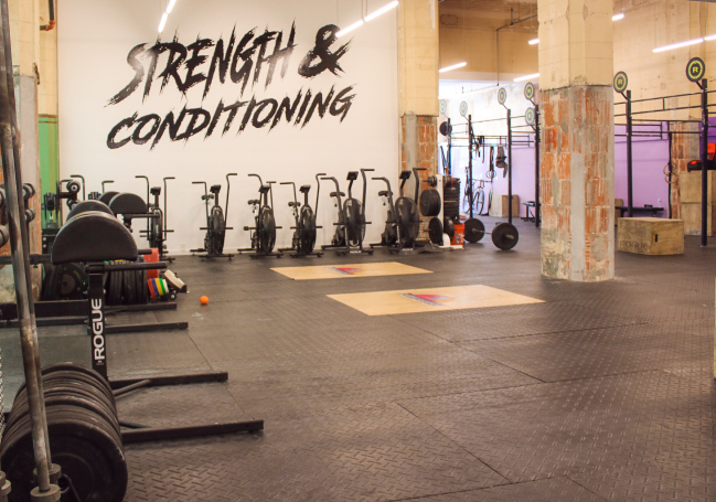 Facility downtown . Gym clipart strength and conditioning