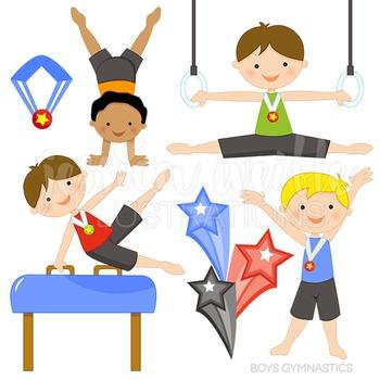 Gymnast clipart clip art. Boys gymnastics cute digital