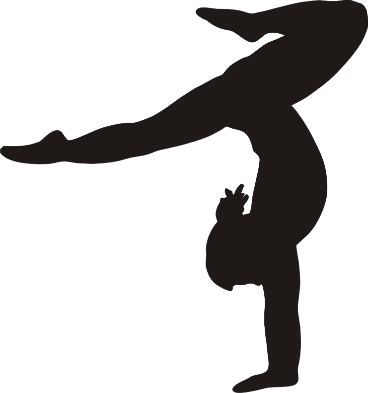 collection of png. Silhouette clipart gymnastics