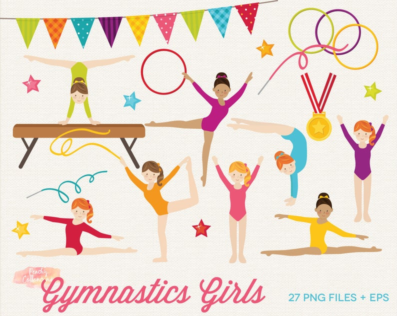 Gymnast clipart gymnastics team. Buy get free girls