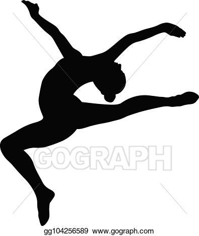 Gymnast clipart leap. Vector illustration stag split