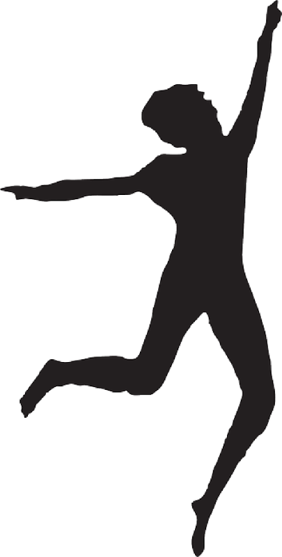 Gymnast clipart leap. Dance silhouette at getdrawings