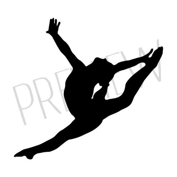 Gymnastics . Gymnast clipart leap