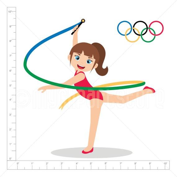 Gymnast clipart olympics gymnastics. Summer rio olympic games