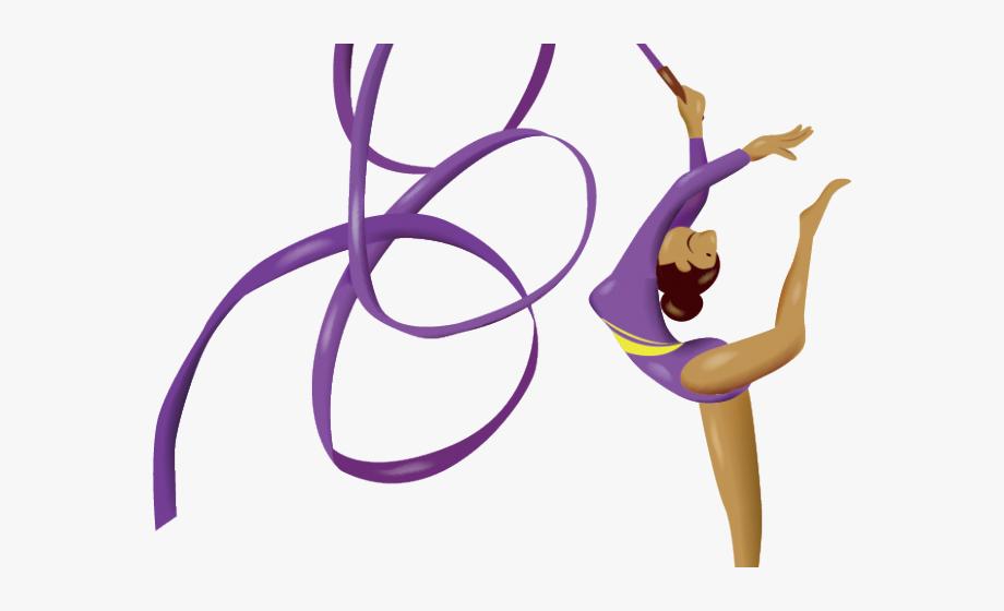 Purple rhythmic gymnastic ribbon. Gymnast clipart olympics gymnastics