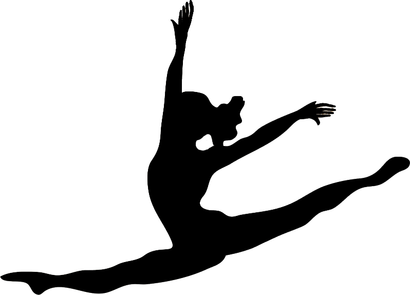 Gymnast clipart outline. Free gymnastics silhouette cliparts