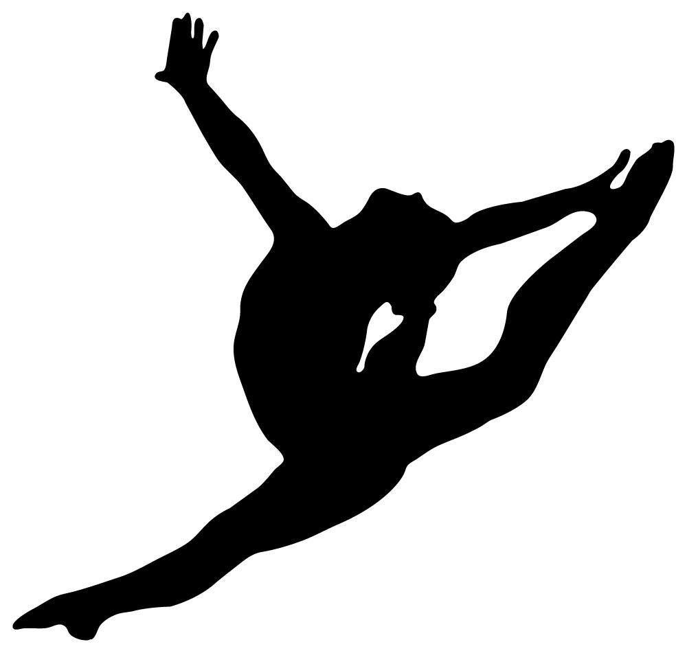Gymnast clipart outline. Of a gymnastics images