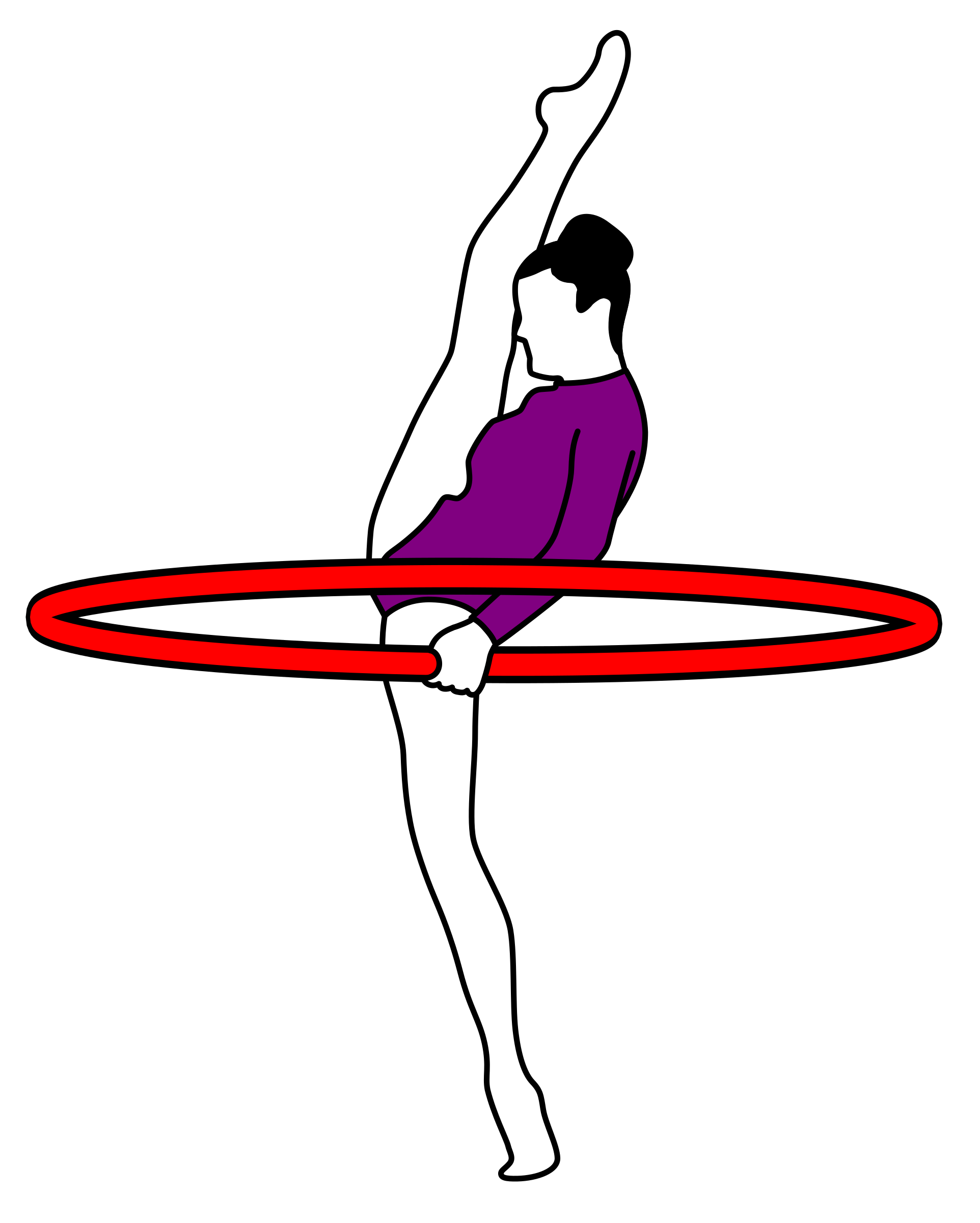 Moving clipart gymnast. Gymnastics archery icons png