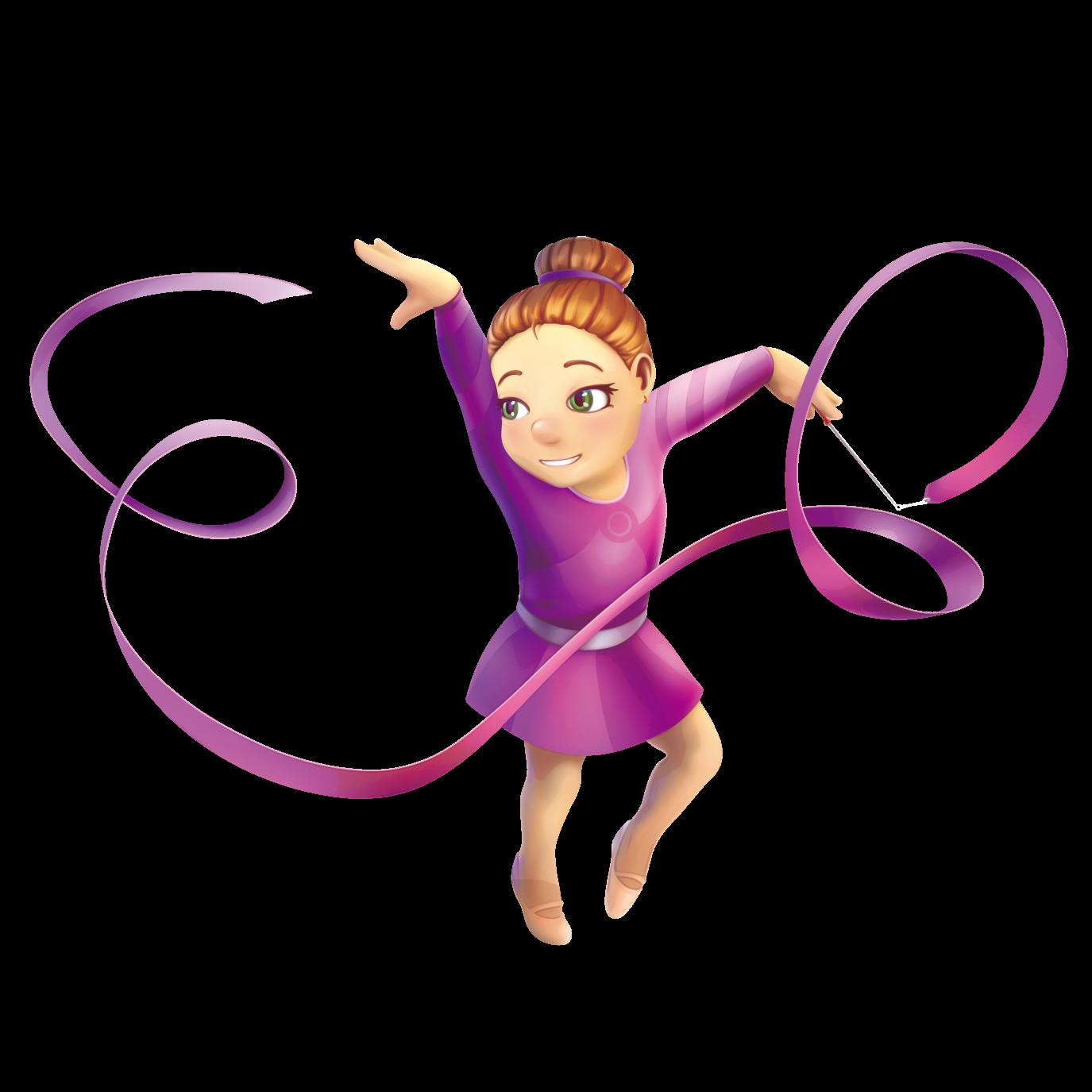 Purple clipart gymnastics. Rhythmic ribbon vector material