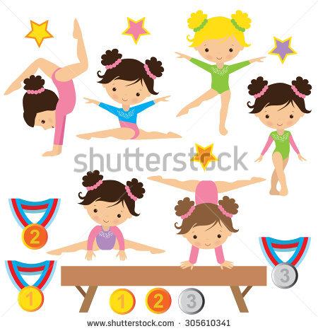 Gymnast clipart preschool gymnastics. Kids free download best