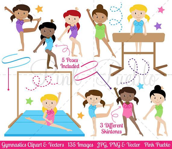 Clip art . Gymnast clipart preschool gymnastics