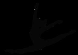 Gymnastics clipart svg. Silhouette picture cricut templates