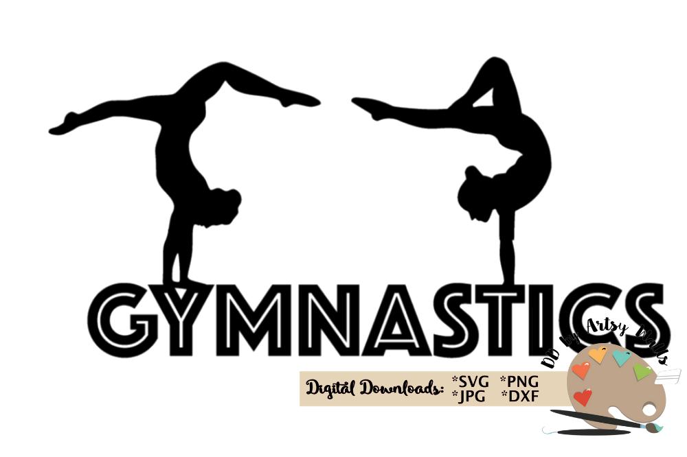 Gymnastics clipart svg. Gymnast silhouette clip art