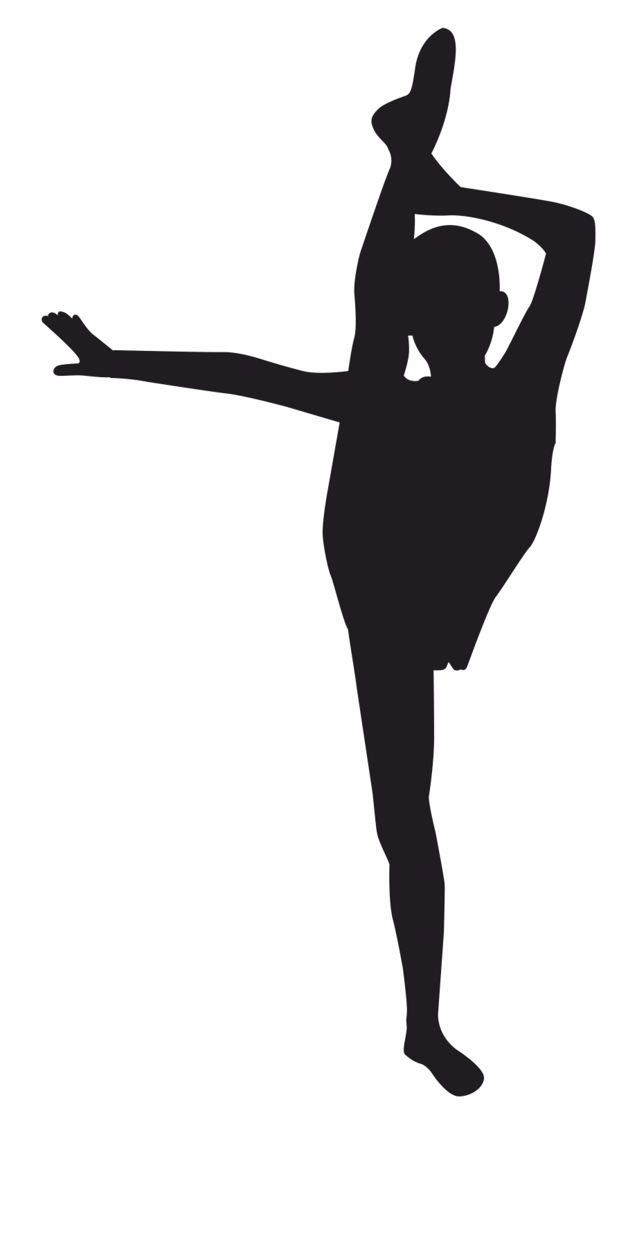 Gymnastics clipart svg. Black and white library