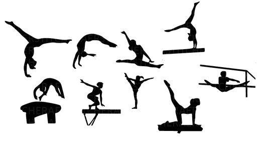 Gymnast clipart vinyl. Free gymnastics clip art