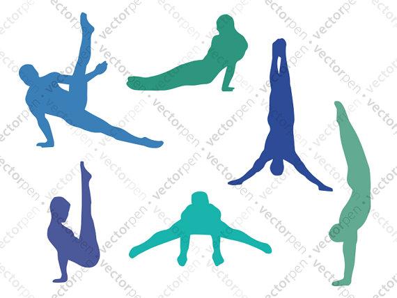 Boy svg gymnastic poses. Gymnast clipart vinyl