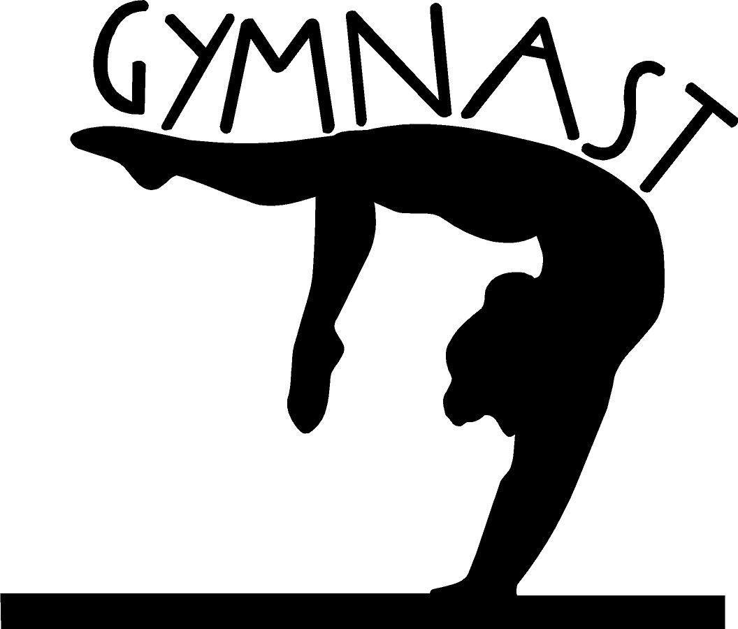 Gymnastics free clipartfest. Bar clipart silhouette