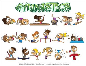 Cartoon . Gymnastics clipart animated