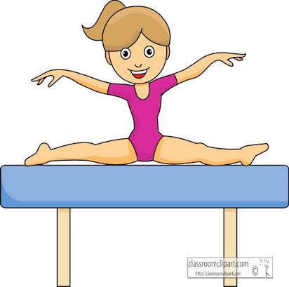 Free cartoon . Gymnastics clipart animated
