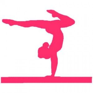 Gymnastics clipart easy. Simple silhouette girl meet