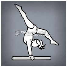 Gymnastics clipart easy. Simple line drawing of