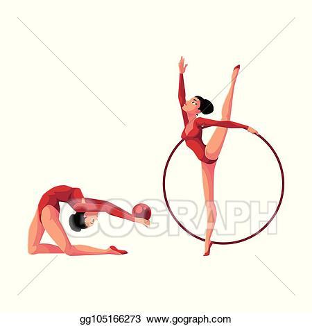 Gymnastics clipart flexible. Clip art vector two