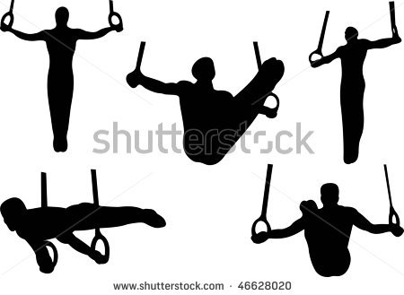 Gymnastics clipart ring. Free male gymnast cliparts