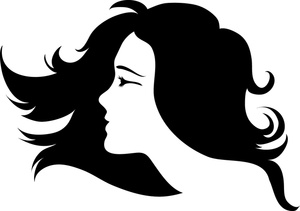 Hair clip art free. Beauty clipart black and white