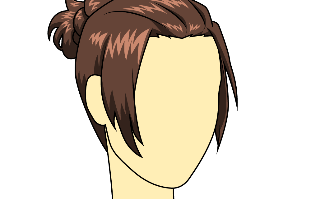 Hair clipart bun hair. How to draw female