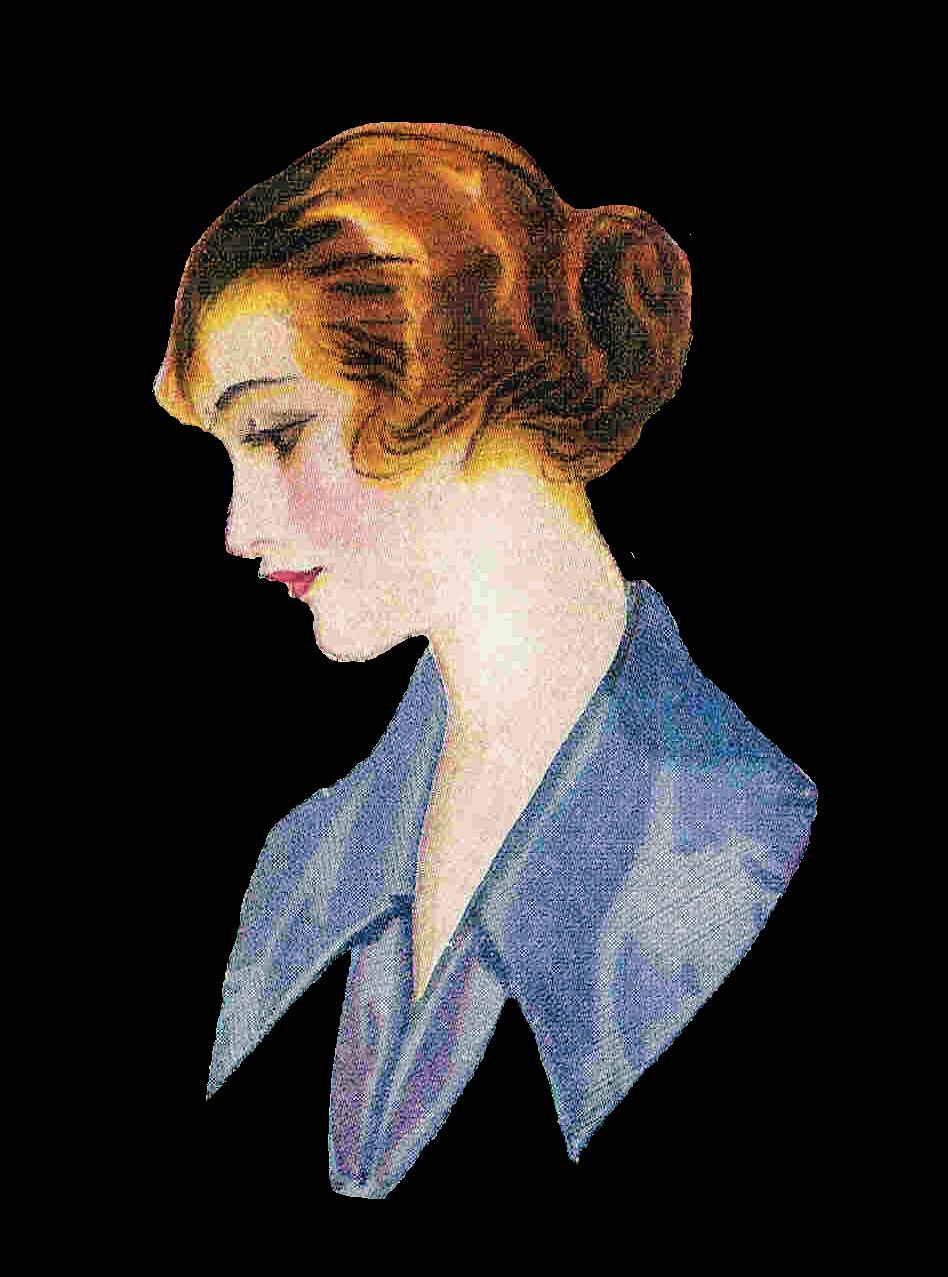 Antique images free vintage. Hair clipart bun hair