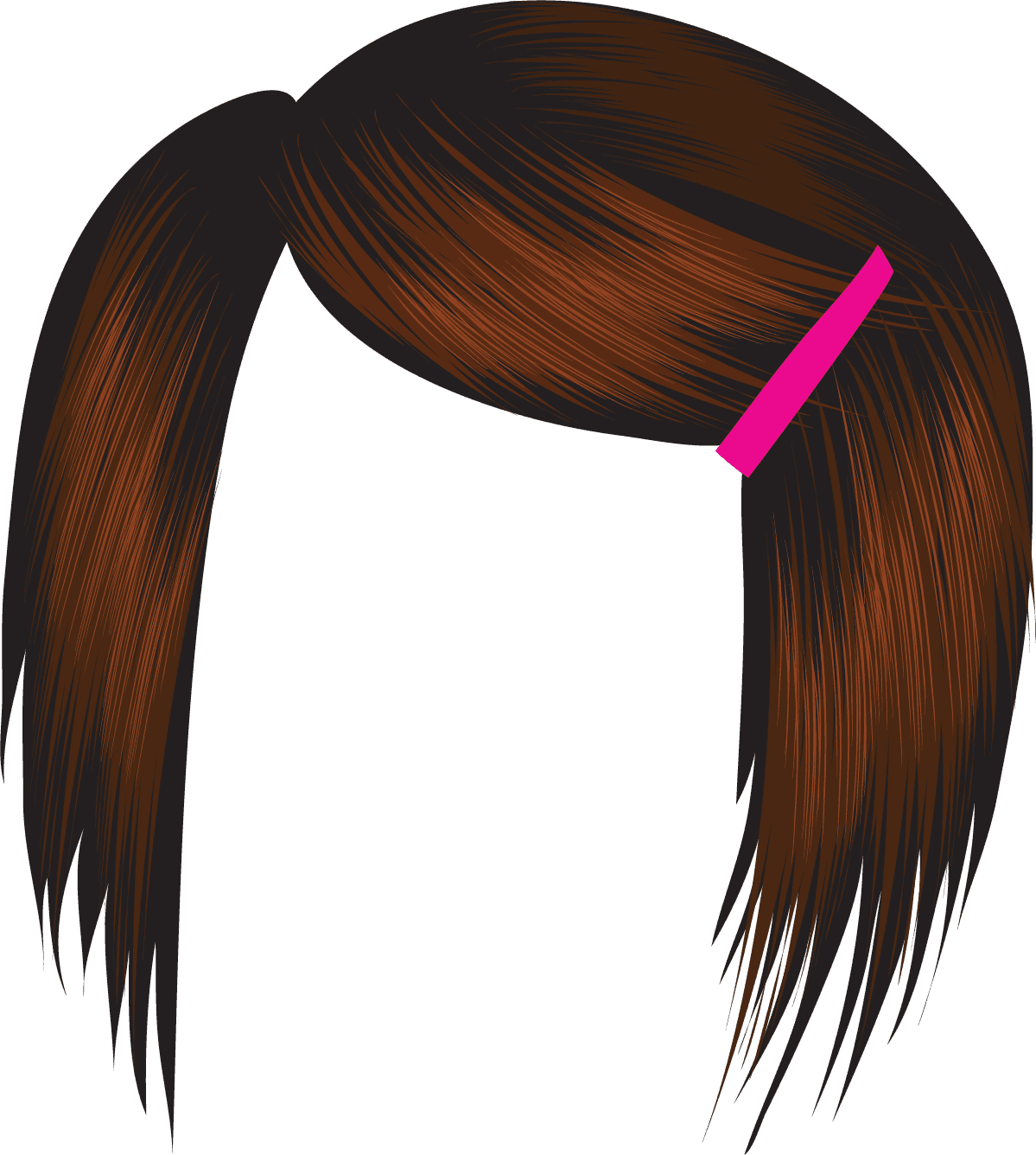 collection of hair. Wet clipart wig