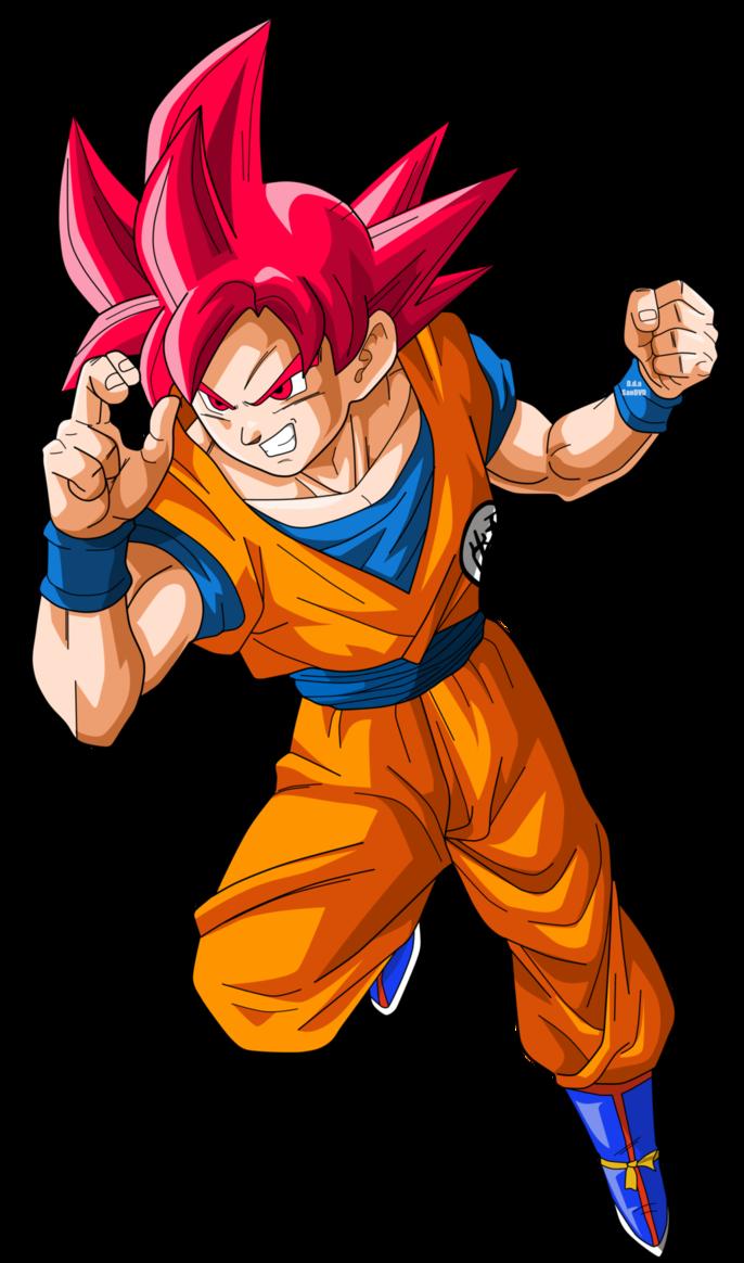 Youtube clipart dragon ball z. Goku supersaiyajin god by