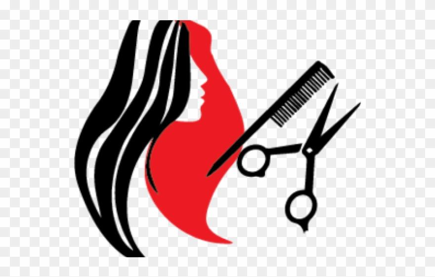 Parlor hair tools cartoon. Haircut clipart salon model