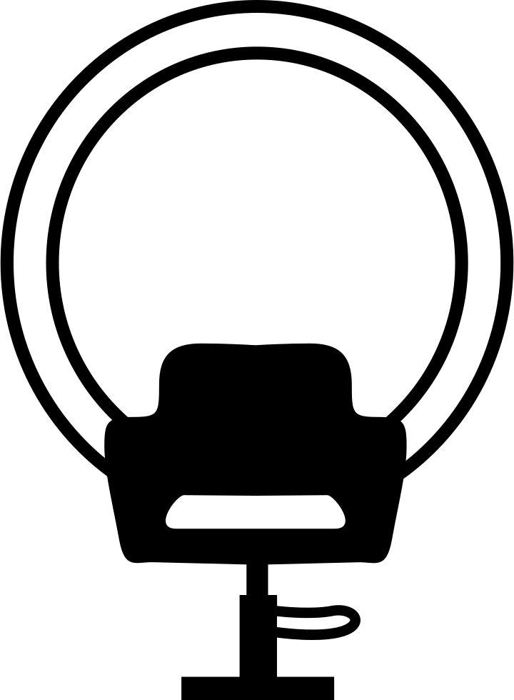 Chair and of hair. Mirror clipart svg