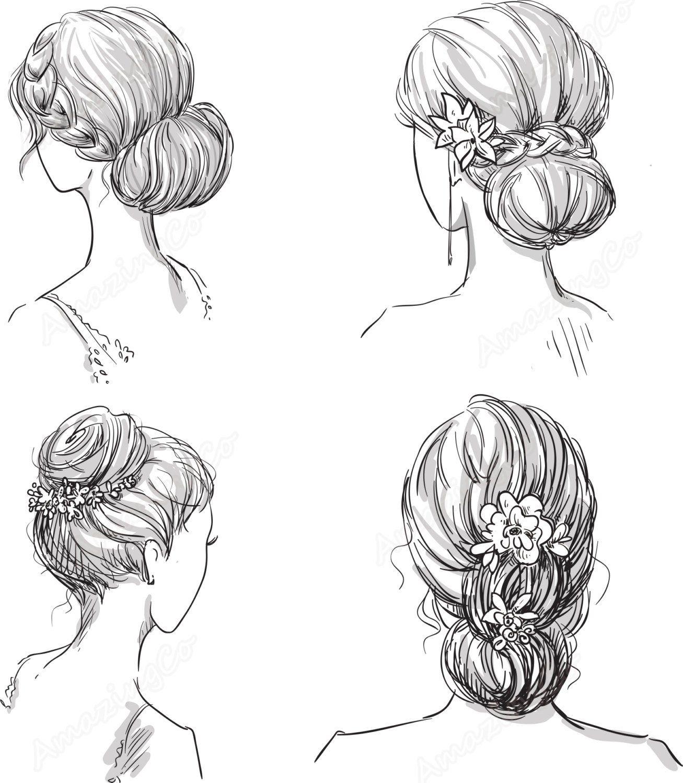 Hair clipart hairdo. Digital girl clip art