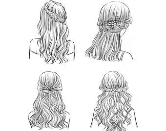 Items similar to digital. Hair clipart hairdo