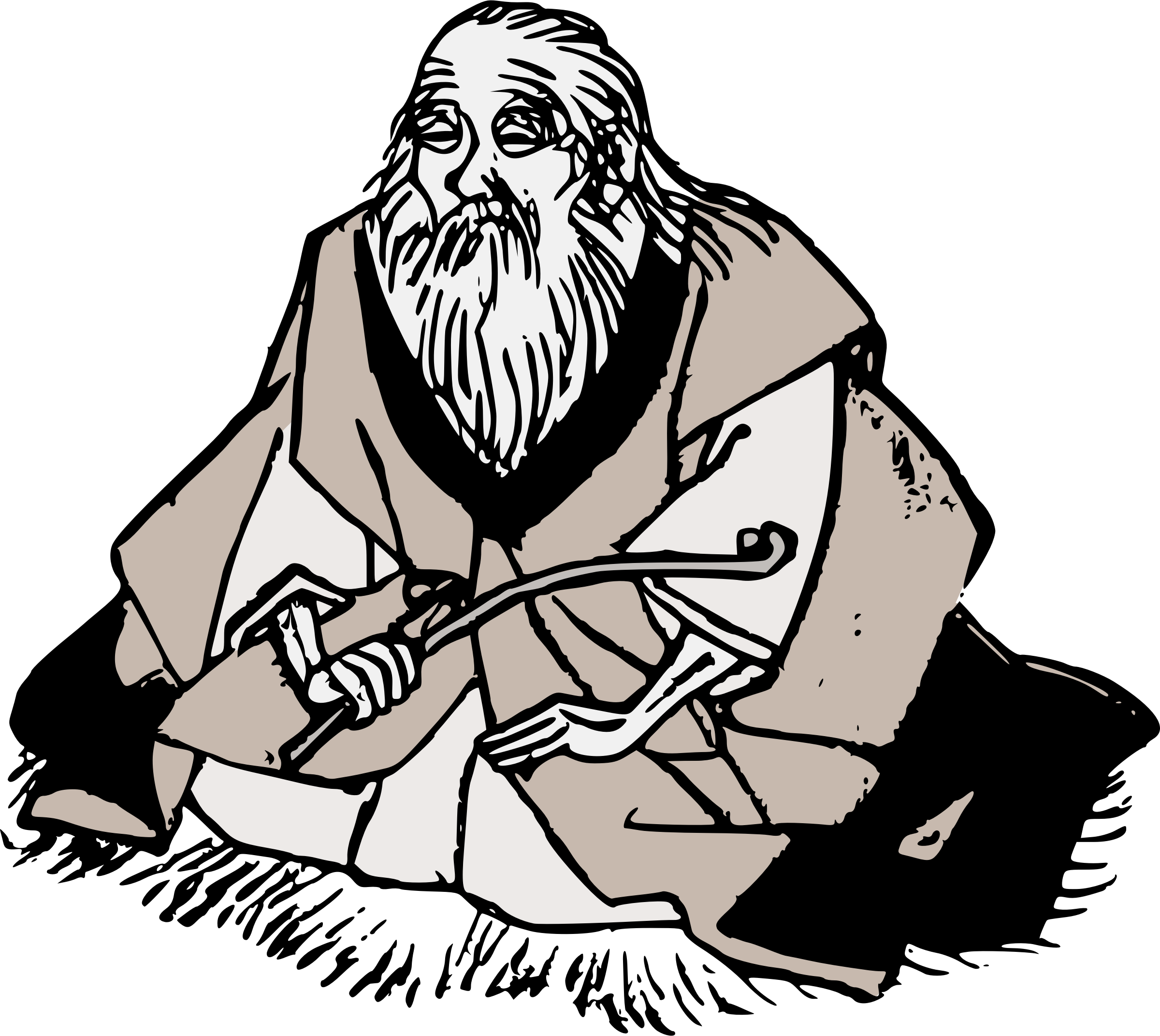 Japanese clipart garden. Wise old man new