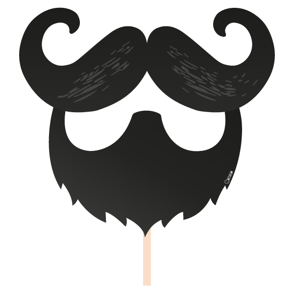 Hair clipart photo booth. Beard prop frames illustrations